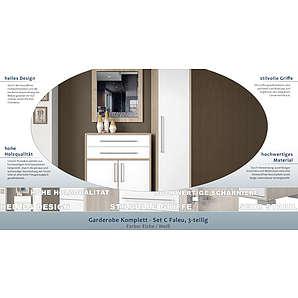 harmonische garderobensets vergleichen moebel24. Black Bedroom Furniture Sets. Home Design Ideas
