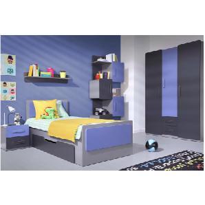 JUSTyou LIGA Schlafzimmerset Schlafzimmerkombination Schlafzimmer Komplett Graphit Violett