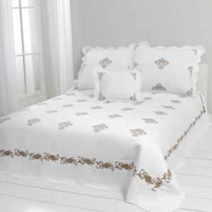 Damen Tagesdecke, weiß, Gr. ca. 240/210 cm,  home, 100% Baumwolle