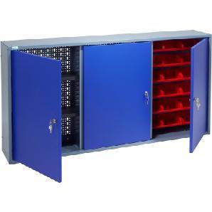 KÜPPER Hängeschrank »3 Türen, 2 Einlegeböden, 18 Sichtboxen, in ultramarinblau«