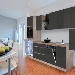 Respekta Küchenzeile mit E-Geräten »Boston«, Breite 380 cm