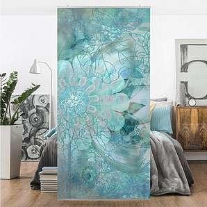 Bilderwelten Raumteiler 250x120cm »Winterblumen«