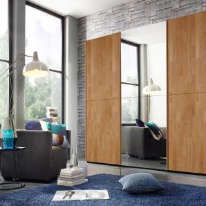 INOSIGN Schwebetürenschrank mit Spiegelfläche schwarz, 300 cm