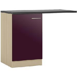 Spülenschrank-Set , 1-türig  BLUES | lila/violett | 110 cm | 85 cm | 60 cm |