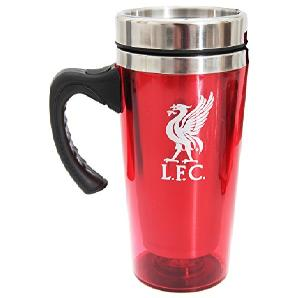 Liverpool FC Travel Mug Hot/Cold Drinks Logo Official Coffee Gift Fan