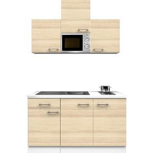 Flex-Well Exclusiv Singleküche Akazia 150 cm Akazie Nachbildung-Weiß