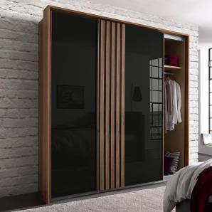 Rauch PACK`S Schwebetürenschrank mit Glasfront grau, Breite 226 cm, 2-türig