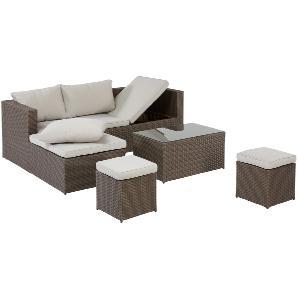 Garten-Lounge-Set Texas (4-teilig, braun)