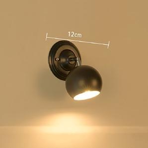 Wandleuchten American LED Bad Bad Spiegel Lampe Moderne Einfache Kommode Spiegel Schrank Lichter Wandleuchte,Black-12cm