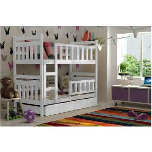 JUSTyou TOM Etagenbett Kinderbett 190x85x150 cm Weiß