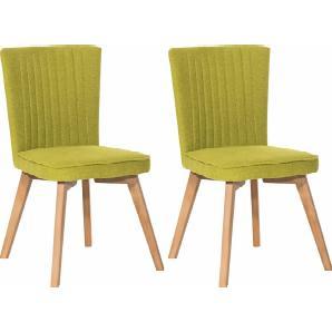 SIT Polsterstuhl mit ausgestellten Holzbeinen grün, »4733«, FSC®-zertifiziert, SIT-Möbel