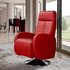 INOSIGN Relaxsessel rot, inklusive Relaxfunktion, FSC®-zertifiziert