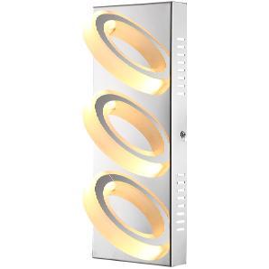 EEK A+, LED-Wandleuchte Mangue II - Metall / Acryl - 3, Globo Lighting