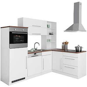 HELD MÖBEL Winkelküche Samos ohne E-Geräte Breite 230x170 cm weiß