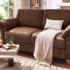 Home affaire Landhaus 3-Sitzer mit Federkern, braun, B/H/T: 186x46x54cm »Borkum«, FSC®-zertifiziert