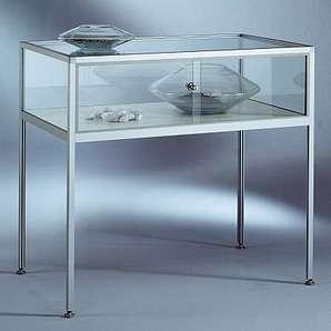 INSIDE Tischvitrine - 5-seitig verglast, Sichthöhe 250 mm HxBxT 900 x 1000 x 600 mm - Glasvitrine Präsentationsregal Präsentationsregale Sortimentskasten Vitrine Vitrinenschrank Vitrinenschränke