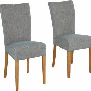 Home affaire Sitzmöbel im 2er-Set, grün, 4er Set, Massivholz, Strukturstoff »Queen«, FSC®-zertifiziert