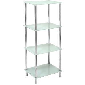 CARRYHOME: Badezimmer, Glas, Chrom, Weiß, B/H/T 40 101,7 30