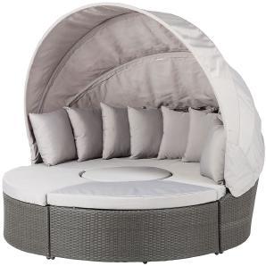 rattan lounge muschel. Black Bedroom Furniture Sets. Home Design Ideas