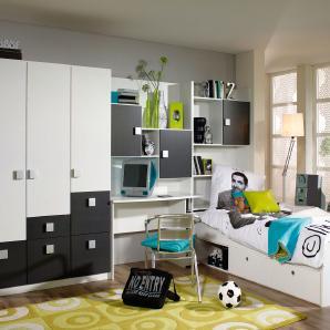 jugendzimmer in grau online vergleichen m bel 24. Black Bedroom Furniture Sets. Home Design Ideas