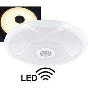 LED Slim Sensorleuchte 12W - Deckenleuchte mit PIR-Bewegungsmelder 360° - 800lm - 290x60mm - warmweiß (3000 K)