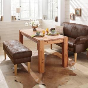 Home affaire 3-Sitzer Küchensofa, braun, B/T: 222x51cm »Malmö«, FSC®-zertifiziert
