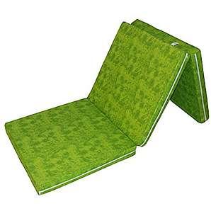 Prosanvita Klappmatratze in Grün, Ideale Faltmatratze für unterwegs, Notbett für Ihren Besuch, platzsparend zu verstauende Gästematratze, 195 x 65 cm, H2