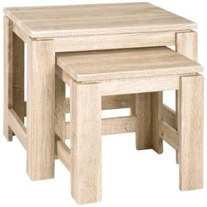 2-Satz-Tisch  Hohenbrunn ¦ holzfarben ¦ Maße (cm): B: 46 H: 43 T: 35 Tische  Beistelltische  Beistelltische ohne Rollen » Höffner