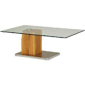♥-100€♥ Couchtisch Holz Metall Glas  Piana ¦ holzfarben ¦ Maße (cm): B: 70 H: 40 Tische  Couchtische  Couchtische rechteckig » Höffner