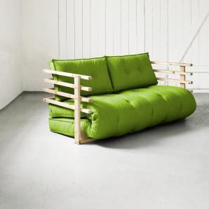 Karup Schlafsofa »Funk«, inkl. Futonmatratze, grün