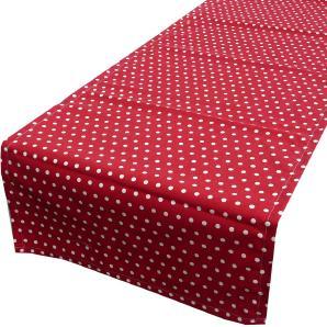 Schöner Leben Tischläufer rot weiß Punkte klein Ø5mm 40x140cm