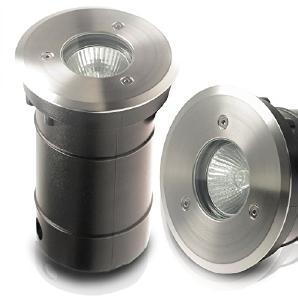 1er Set 230V Bodeneinbauleuchte TIERRA 2 PLUS IP67 rund SMD LED 5,0W = 50W; Warm-Weiß; Einbaustrahler Wegeleuchte Garten außen; inkl. austauschbarem Leuchtmittel