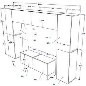 mehrteilige wohnw nde f r ihr wohnzimmer moebel24. Black Bedroom Furniture Sets. Home Design Ideas