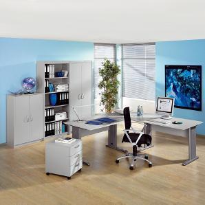 Büro Tomas 2 - Office-Grau, Wellemöbel