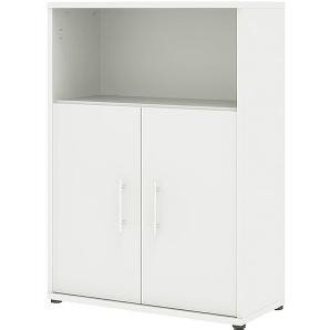 Mehrzweckschrank »Bürocombi +2« 80 cm breit 3 OH Weiß, Wellemöbel, 80x111.5x36.2 cm