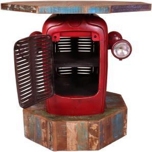 Stehtisch Traktor Kühlergriff  Rot/ Bunt Sit-Möbel This & That Mehrfarbig Metall Stylisch