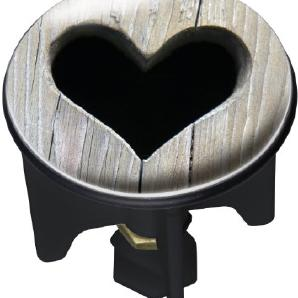 Wenko 20732100 Waschbeckenstöpsel Pluggy Heart Abfluss Stopfen, Messing, Kunststoff, Durchmesser 3.9 x 6.5 - 9.5 cm