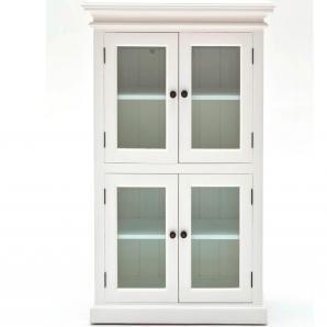 Novasolo, Highboard Halifax, Landhausstil, 4-türig, Glas,