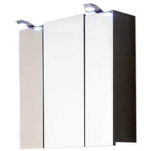 EEK A+, Spiegelschrank Tara - mit LED-Lampen - Walnuss - Weiß, Posseik
