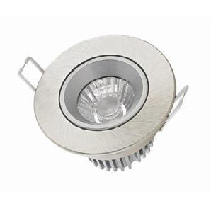 Sigor Haled Downlight Einbaustrahler, Einbautiefe: 3,1 cm, Nickel matt