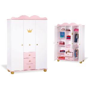 Mädchen Kleiderschrank Prinzessin Karolin - rosa
