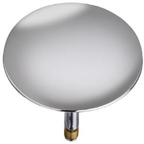 Wenko 21849100 Badewannenstöpsel Pluggy XXL Abfluss-Stopfen, für alle handelsüblichen Abflüsse, Messing, 7,5cm x 7,5cm x 6cm, chrom