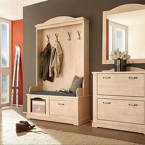 Home affaire Garderoben-Set (3-tlg.), natur »Arosa«, FSC®-zertifiziert