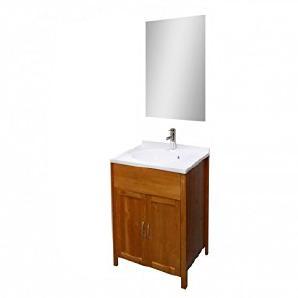 SAM® Badmöbel-Set 2-tlg, Kiefernholz lackiert, Badezimmermöbel, Waschbeckenunterschrank, Spiegel