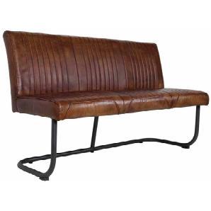 Esszimmerbank im Loft Style Braun Leder