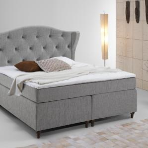 Home affaire Boxspringbett grau, Liegefläche 140/200 cm, »Felix«, Härtegrad 2, FSC®-zertifiziert