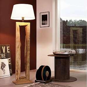 Licht-Trend Stehleuchte »Timber Stehleuchte mit Holzfuß h126 cm / Braun«
