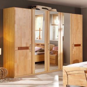 Home affaire Kleiderschrank »Sarah« beige, 5-türig, Breite 235cm