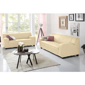 Home affaire 2-Sitzer + 3-Sitzer »Fun« beige, ohne Federkern, FSC®-zertifiziert