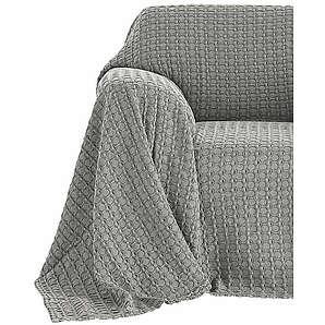 Acie home Sessel- und Sofaüberwurf grau ca. 160/190 cm,ca. 250/190 cm,ca. 250/220 cm